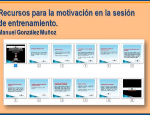 Recursos para la motivación en la sesión de entrenamiento