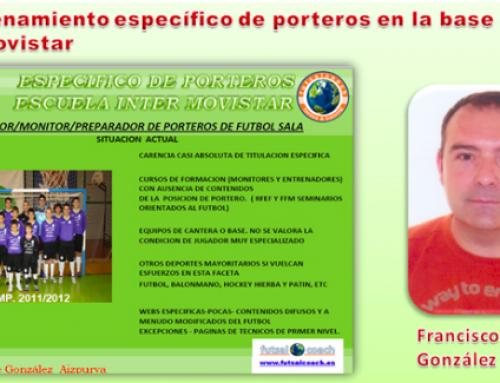 ARTÍCULO PUBLICADO. El entrenamiento específico de porteros en la base del Inter Movistar