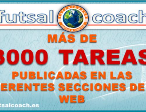 Más de 3000 tareas y ejercicios de fútbol sala publicados en futsalcoach
