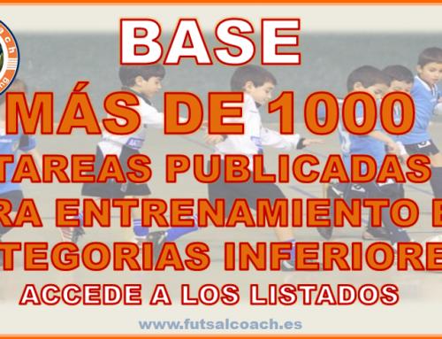 Futsalcoach. PUBLICADAS MÁS DE 1000 TAREAS PARA EL ENTRENAMIENTO EN LA BASE