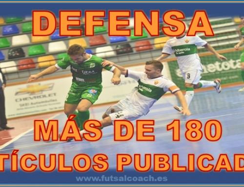 Futsalcoach. Más de 180 artículos publicados relacionados con la DEFENSA en el fútbol sala