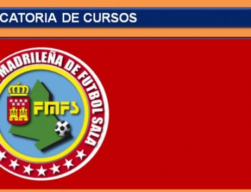 La Federación Madrileña de Fútbol Sala convoca dos cursos intensivos de monitor para estas navidades.
