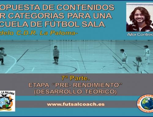 Propuesta de contenidos por categorías para una escuela de fútbol sala. Etapa Pre-rendimiento (1).
