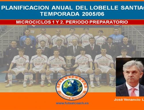 Planificación Lobelle Santiago Futsal. Temporada 2005/06. Microciclos 1 y 2