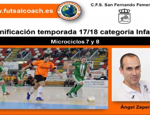 Microciclos 7 y 8. (4 sesiones). Planificación del C.F.S. San Fernando Femenino. Infantiles 17/18