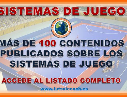 Futsalcoach. Listado de contenidos técnicos publicados sobre los SISTEMAS DE JUEGO