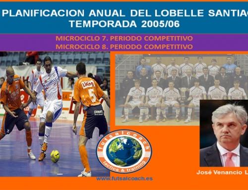 Planificación Lobelle Santiago Futsal. Temporada 2005/06. Microciclos 7 y 8