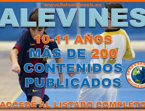 LISTADO DE CONTENIDOS PARA ENTRENAR ALEVINES
