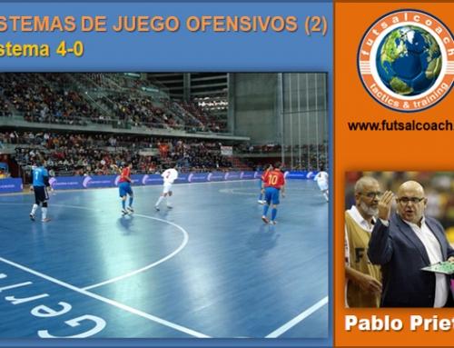 Sistemas de juego ofensivos (2). Sistema 4-0