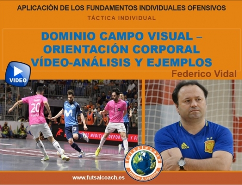 Aplicación de los fundamentos tácticos individuales ofensivos. DOMINIO CAMPO VISUAL – ORIENTACIÓN CORPORAL (vídeo)
