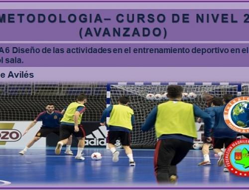 METODOLOGÍA – CURSO DE NIVEL 2 (AVANZADO). Tema 6. Diseño de las actividades en el entrenamiento deportivo en el fútbol sala.