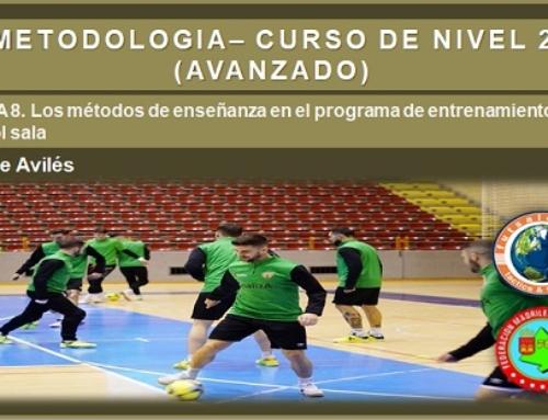 METODOLOGÍA – CURSO DE NIVEL 2 (AVANZADO). Tema 8. Los métodos de enseñanza en el programa de entrenamiento del fútbol sala