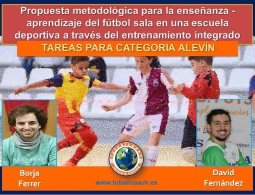 Propuesta metodológica para la enseñanza – aprendizaje del fútbol sala en una escuela deportiva a través del entrenamiento integrado centrado en la técnica y la táctica. 10 TAREAS PARA CATEGORÍA ALEVÍN
