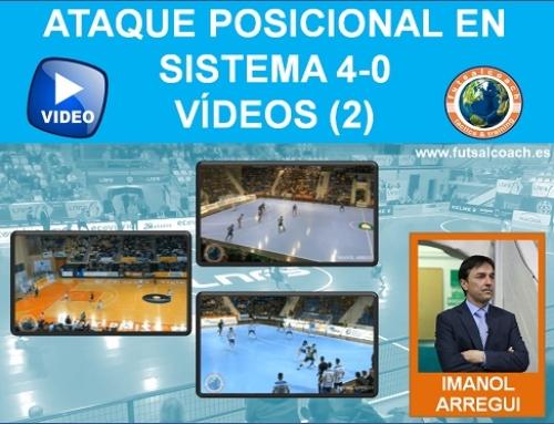 Ataque posicional en sistema 4-0. Vídeos (2) – Contenido