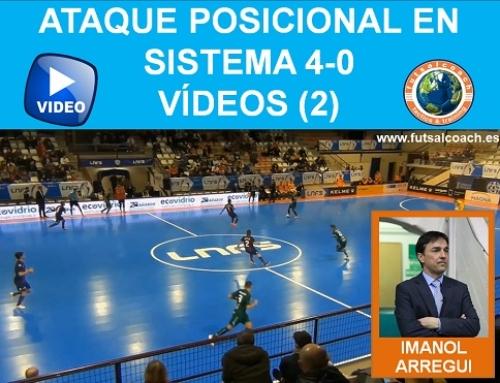 Ataque posicional en sistema 4-0. Vídeos (2)