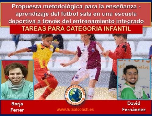 Propuesta metodológica para la enseñanza – aprendizaje del fútbol sala en una escuela deportiva a través del entrenamiento integrado centrado en la técnica y la táctica. 10 TAREAS PARA CATEGORÍA INFANTIL