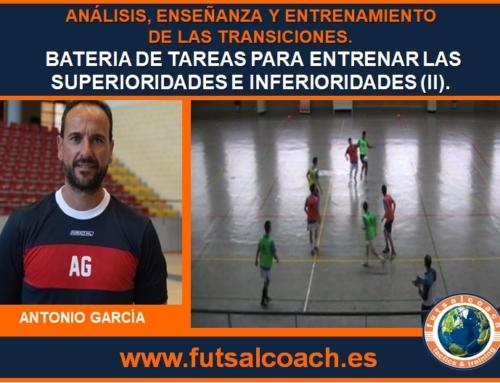 CURSO MONOGRÁFICO. Análisis, enseñanza y entrenamiento de las transiciones en fútbol sala. Capítulo 3 (propuestas prácticas). Tareas 4, 5 y 6.