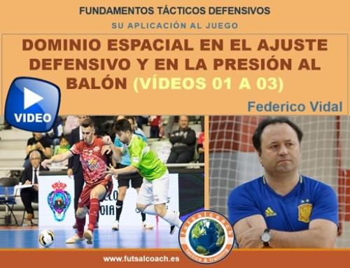 Aplicación de los fundamentos tácticos individuales defensivos. DOMINIO ESPACIAL (vídeos 1, 2 y 3)