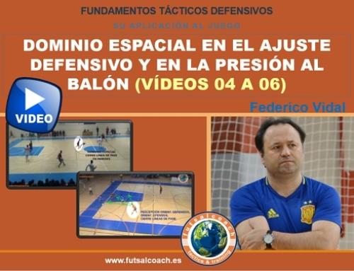 Aplicación de los fundamentos tácticos individuales defensivos. DOMINIO ESPACIAL (vídeos 4, 5 y 6) – Contenido