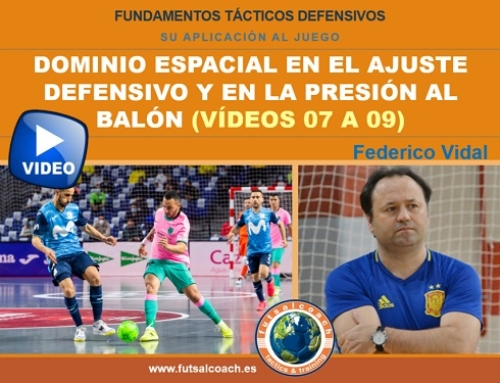 Aplicación de los fundamentos tácticos individuales defensivos. DOMINIO ESPACIAL (vídeos 7, 8 y 9)