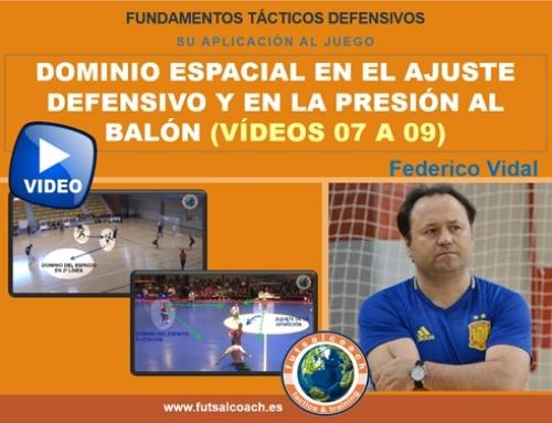Aplicación de los fundamentos tácticos individuales defensivos. DOMINIO ESPACIAL (vídeos 7, 8 y 9) – Contenido