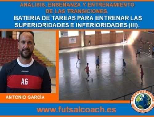 CURSO MONOGRÁFICO. Análisis, enseñanza y entrenamiento de las transiciones en fútbol sala. Capítulo 3 (propuestas prácticas). Tareas 7, 8 y 9.