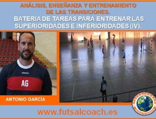 CURSO MONOGRÁFICO. Análisis, enseñanza y entrenamiento de las transiciones en fútbol sala. Capítulo 3 (propuestas prácticas). Tareas 10,11,12 y 13.